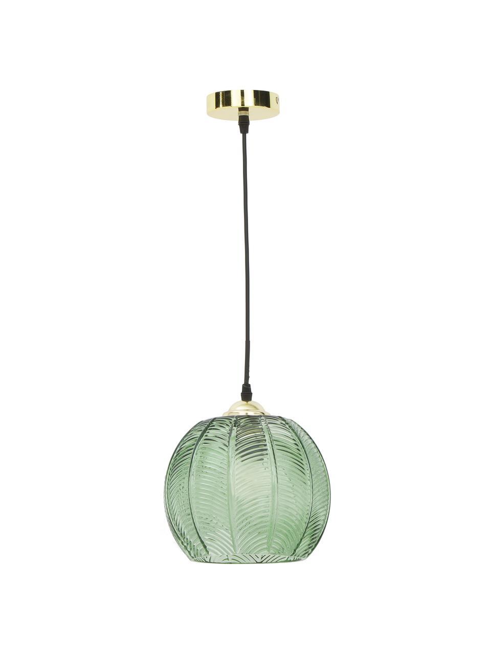 Lampa wisząca ze szkła Luisa, Zielony, Ø 22 x W 20 cm