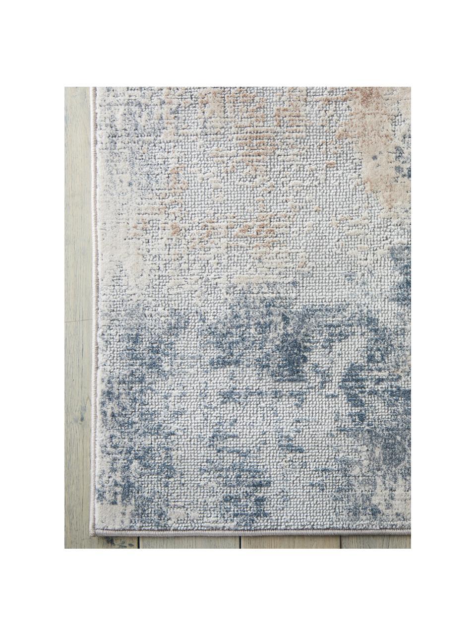 Tappeto di design beige/grigio Rustic Textures, Retro: 50%juta, 50%Latex, Tonalità beige, grigio, Larg. 160 x Lung. 220 cm (taglia M)