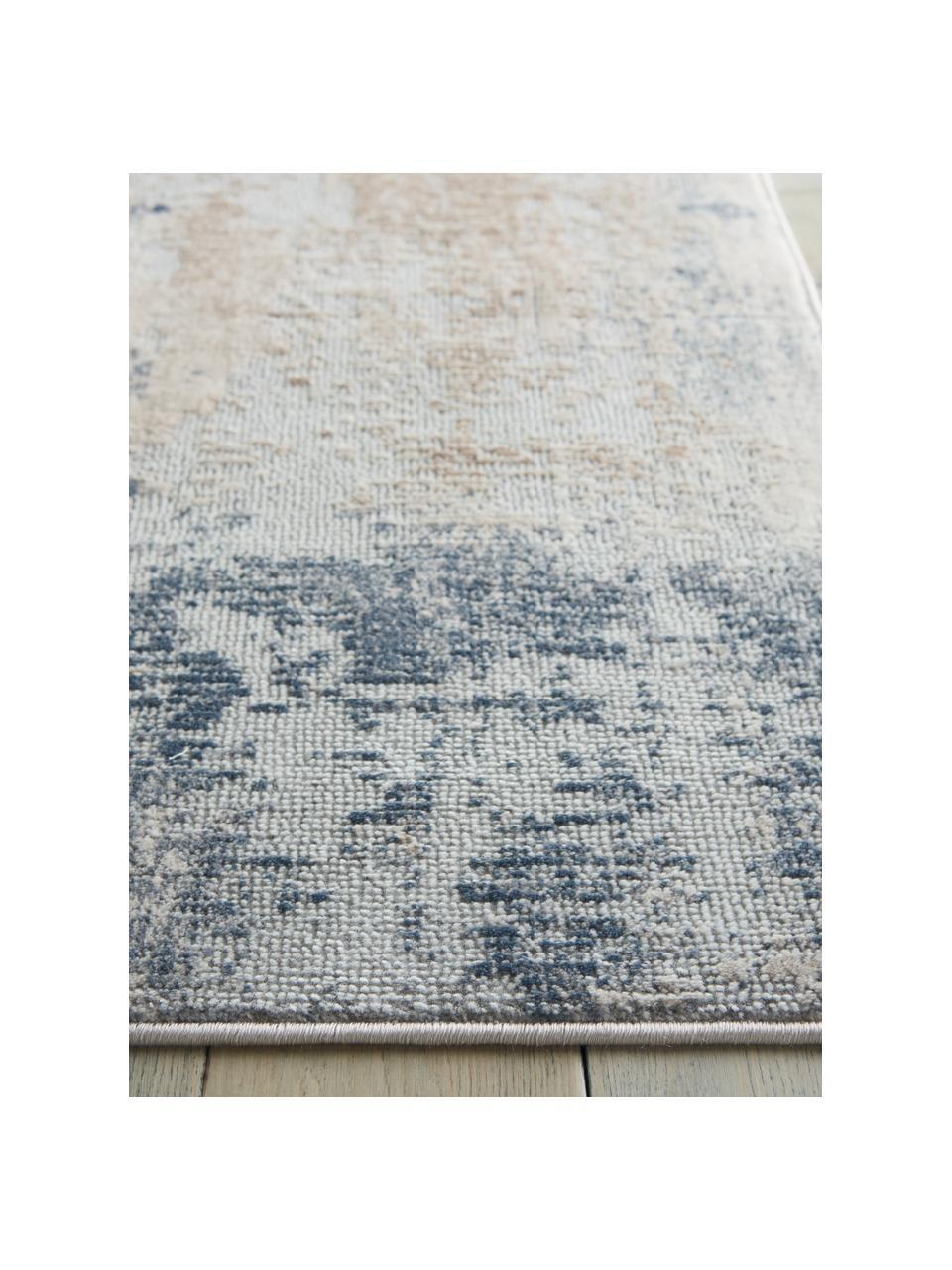 Design vloerkleed Rustic Textures II in beige/grijs, Bovenzijde: 51%polypropyleen, 49%po, Onderzijde: 50%jute, 50%latex, Beigetinten, grijs, B 160 x L 220 cm (maat M)