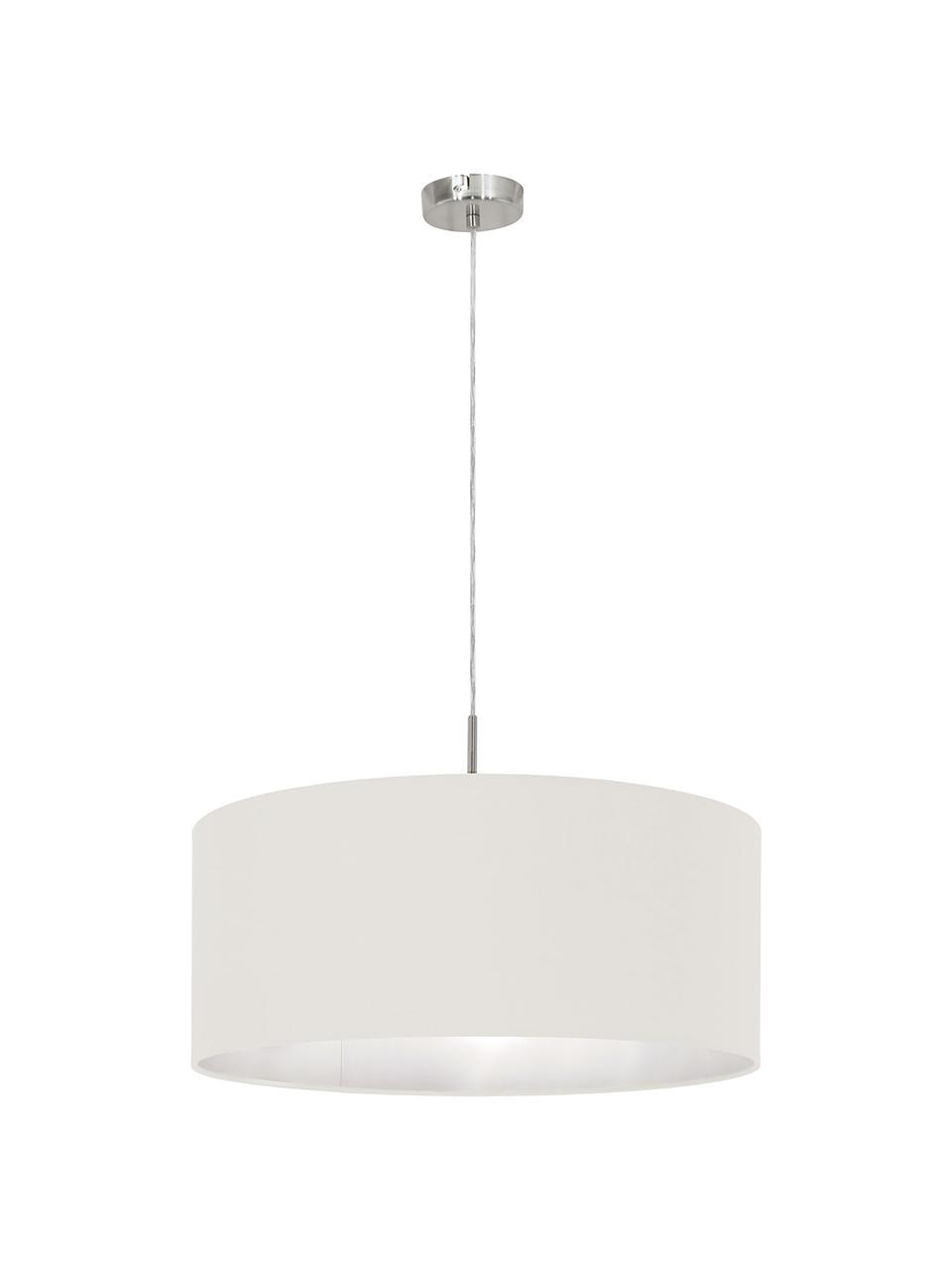 Lampa wisząca Parry, Odcienie srebrnego, kremowobiały, Ø 53 x W 25 cm