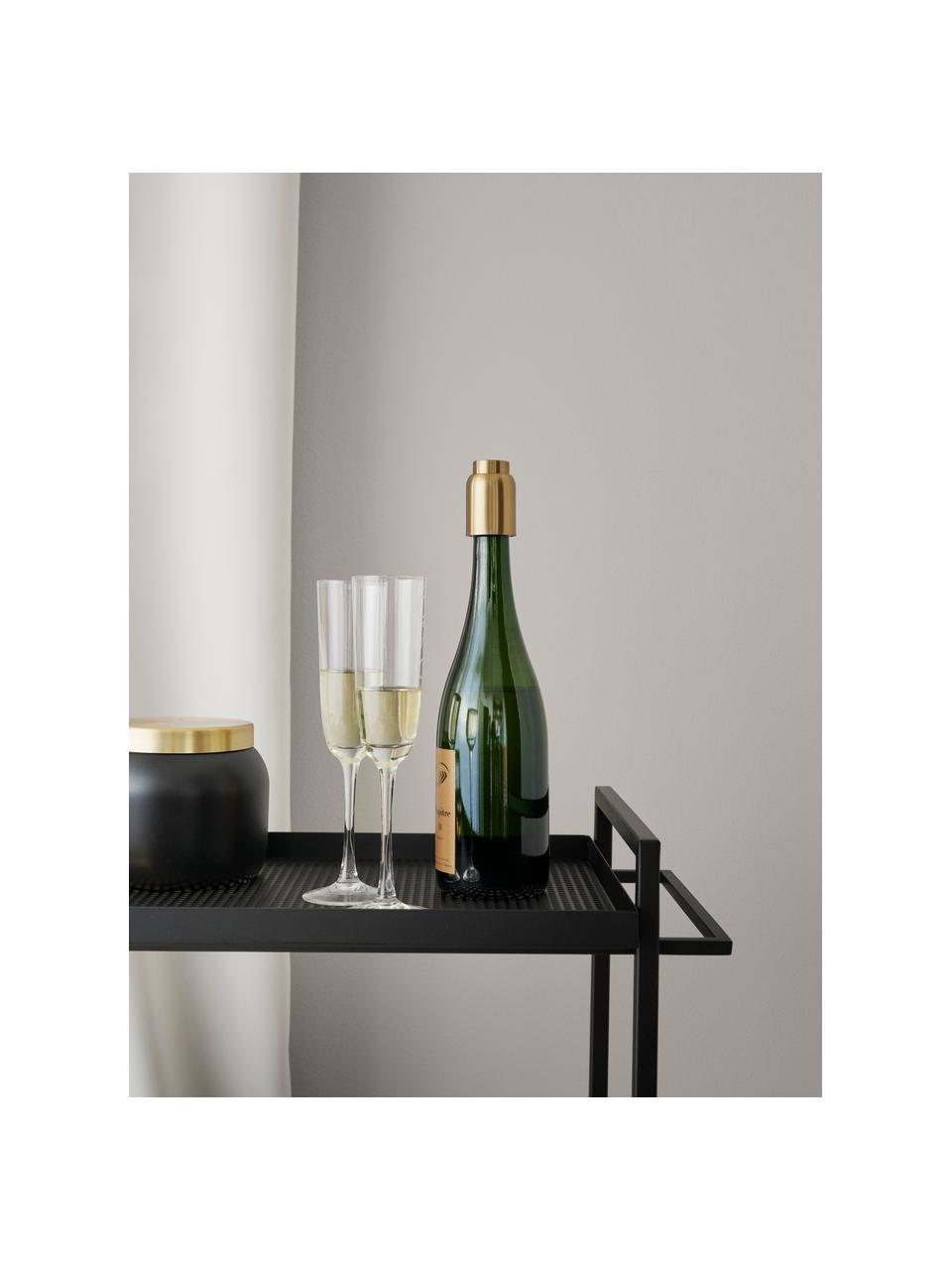 Próżniowy korek do butelek Collar, Stal szlachetna, mosiądzowana, Odcienie mosiądzu, Ø 4 x W 6 cm