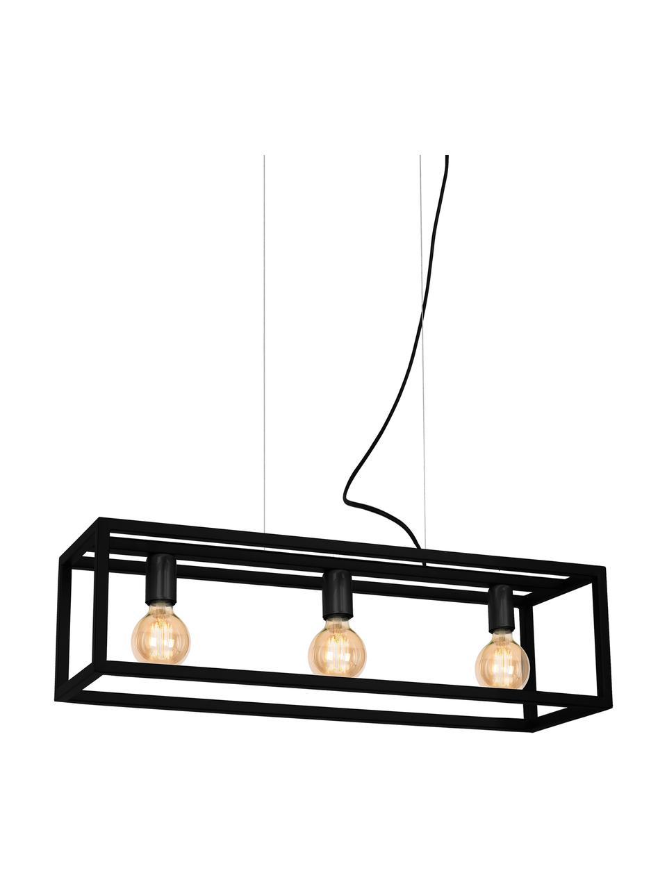 Duża lampa wisząca Cohen, Czarny, S 85 x W 90 cm