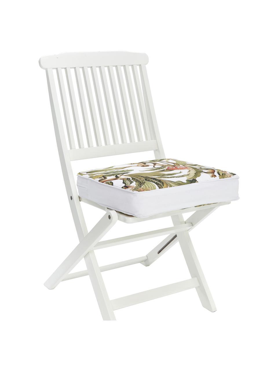 Hohes Sitzkissen Monkey, Bezug: 100% Baumwolle, Grün, 40 x 40 cm