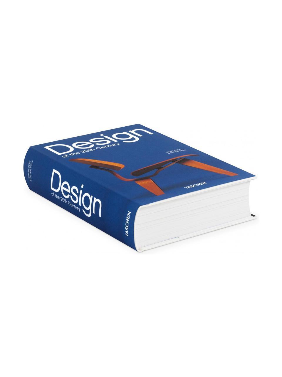 Buch Design des 20. Jahrhunderts, Papier, Hardcover, Blau, Weiß, Braun, 15 x 20 cm
