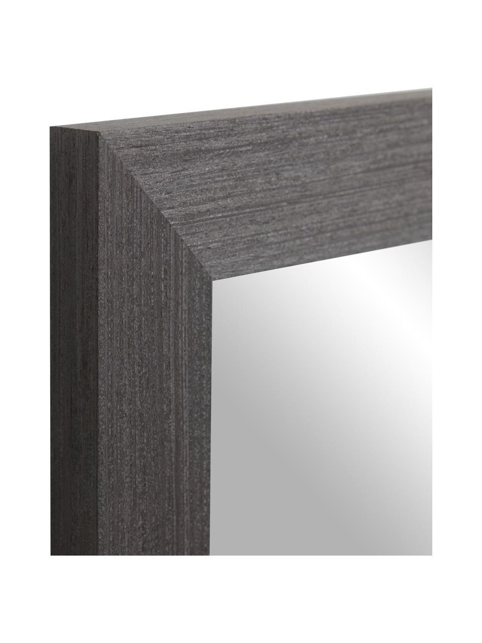 Wandspiegel Wilany met met houten lijst, Lijst: hout, Antraciet, 47 x 58 cm