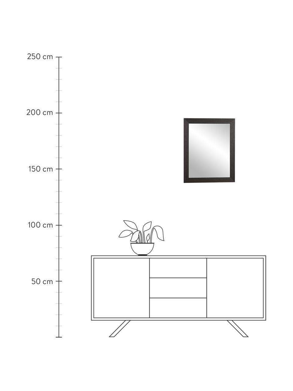 Wandspiegel Wilany mit Holzrahmen, Rahmen: Holz, Spiegelfläche: Spiegelglas, Anthrazit, 47 x 58 cm