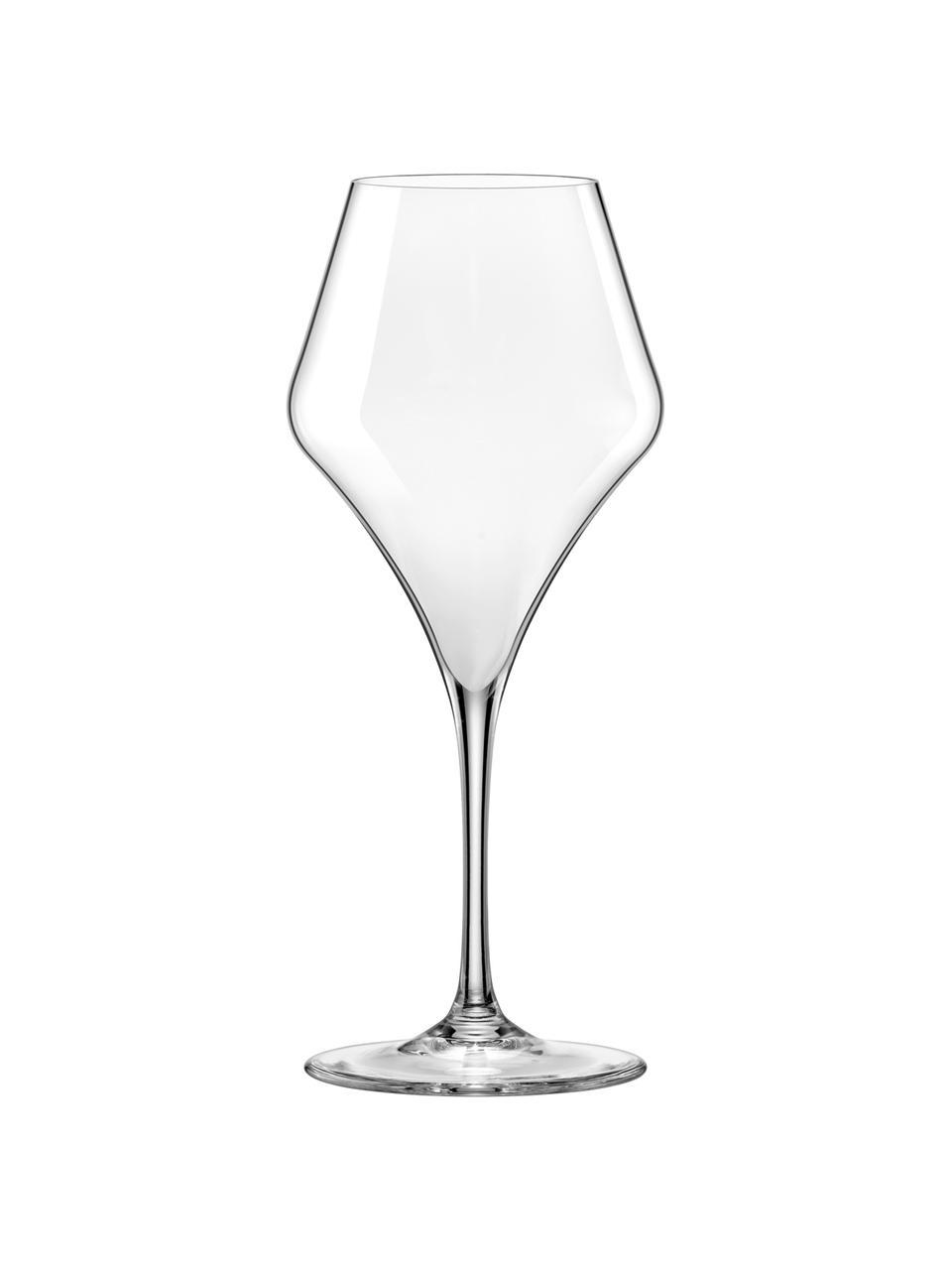 Tulpvormige rode wijnglazen Aram, 6 stuks, Glas, Transparant, Ø 10 x H 24 cm