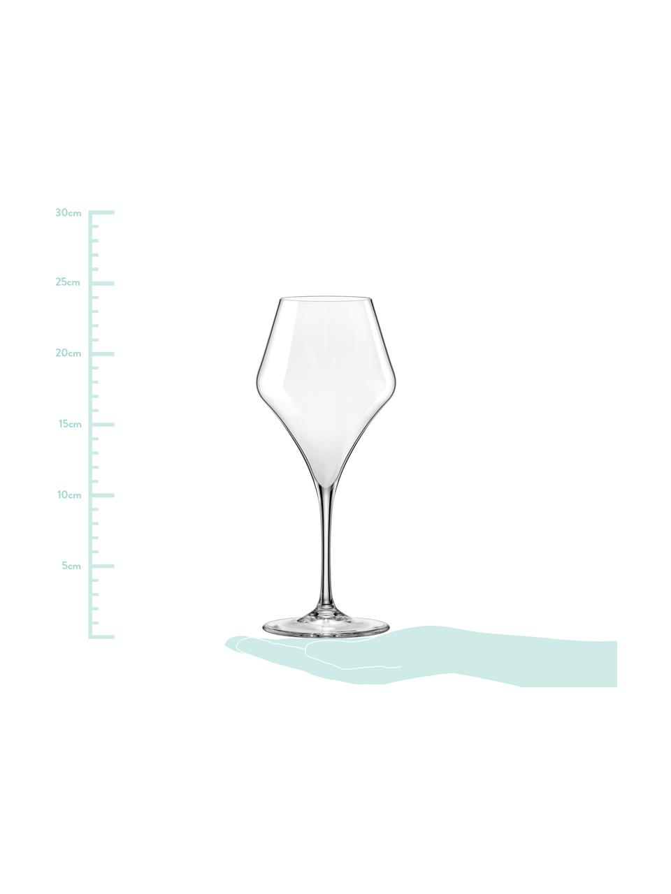 Bauchige Rotweingläser Aram, 6 Stück, Glas, Transparent, Ø 10 x H 24 cm