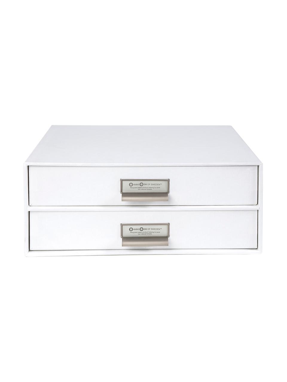 Organizer da ufficio Birger, Organizer: solido cartone laminato, Organizer all'esterno: bianco Organizer all'interno: bianco, Larg. 33 x Alt. 15 cm