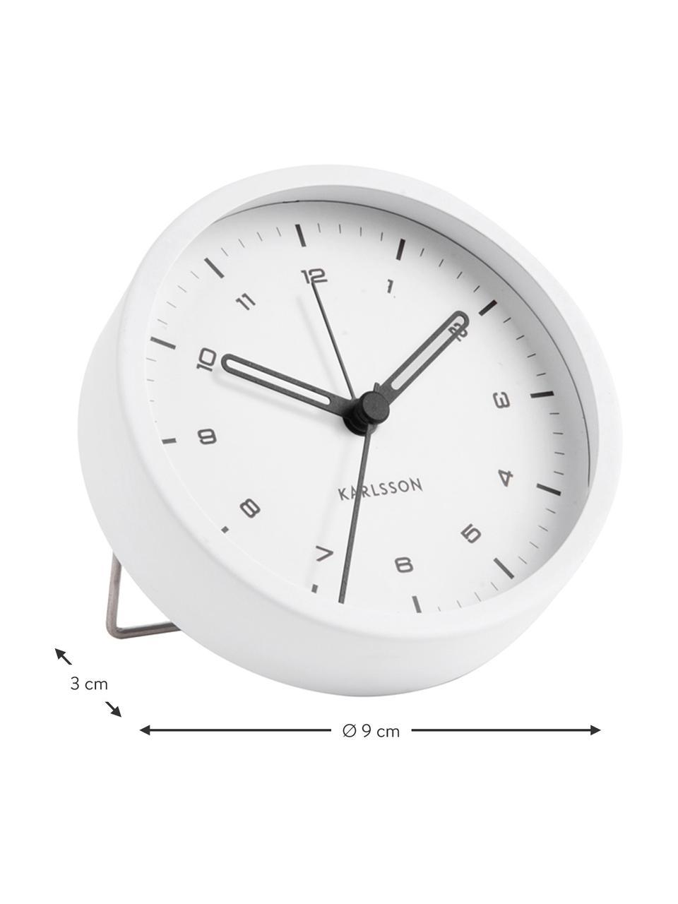 Sveglia Tinge, Acciaio, verniciato, Bianco, Ø 9 x P 3 cm