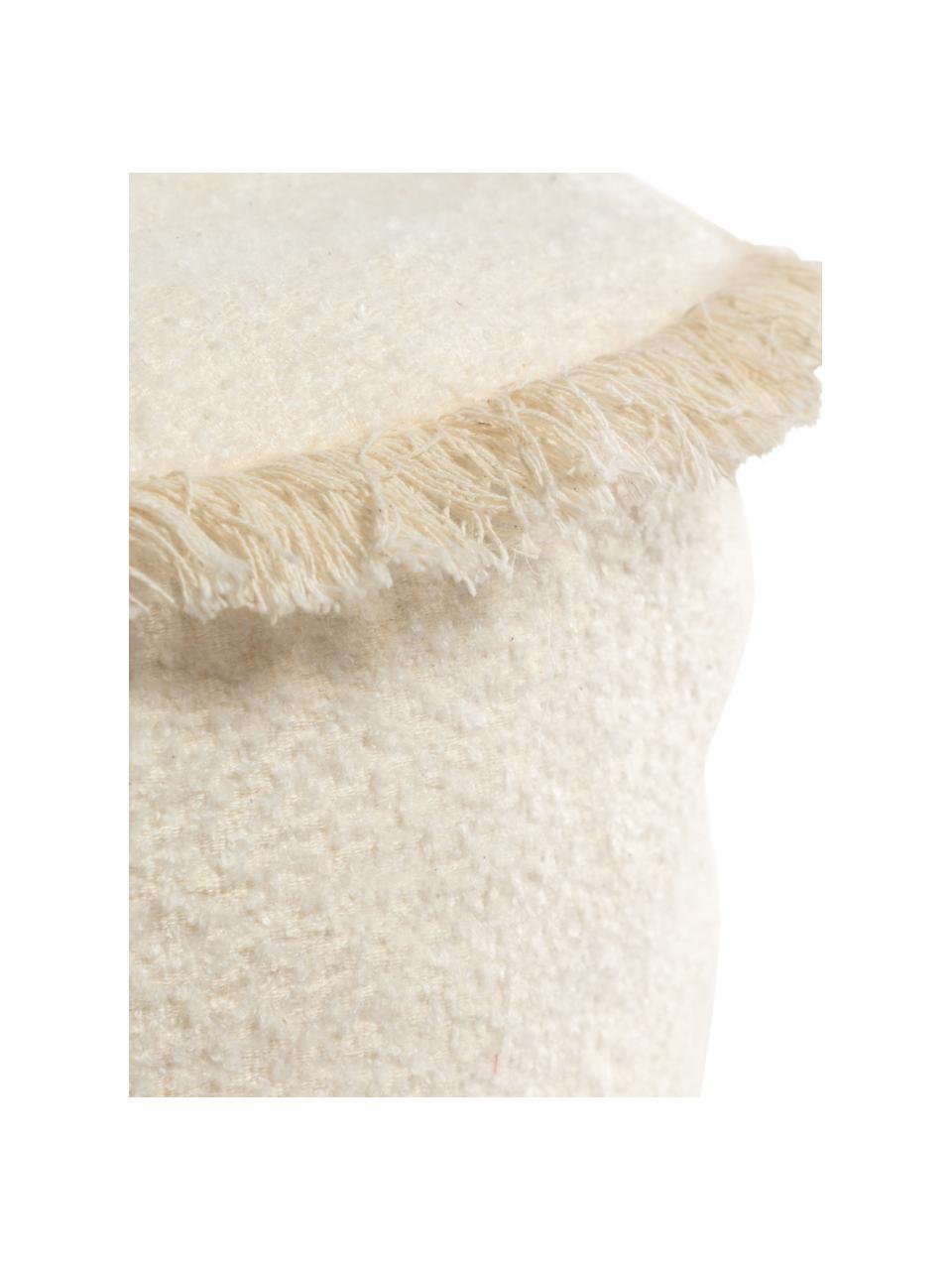 Kinder-Baumwollpouf Verenice, 100% Baumwolle, Beige, Ø 40 x H 27 cm