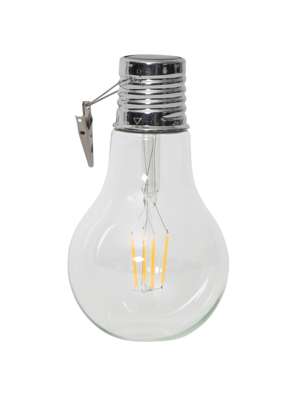 Solar hanglampen Fille, 2 stuks, Lampenkap: glas, Fitting: edelstaal, Transparant, Ø 10 x H 18 cm