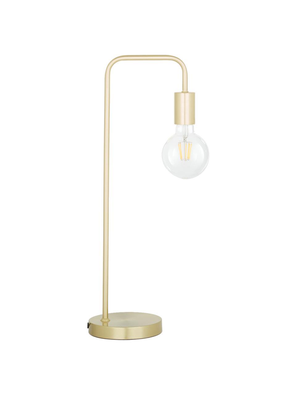 Grande lampe de bureau en métal Flow, Laiton, brossé