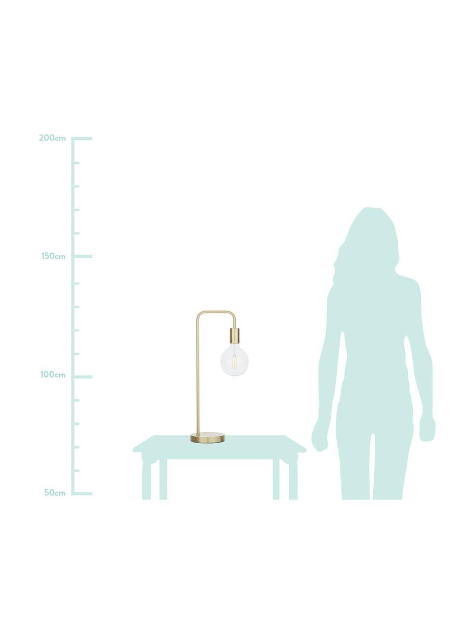 Lampada da tavolo in metallo dorato Flow, Ottone spazzolato, Larg. 22 x Alt. 56 cm