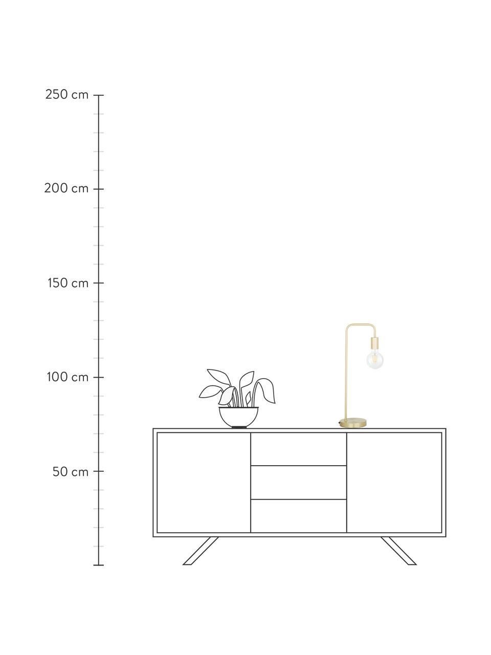 Große Schreibtischlampe Flow aus Metall, Messing, gebürstet, 22 x 56 cm