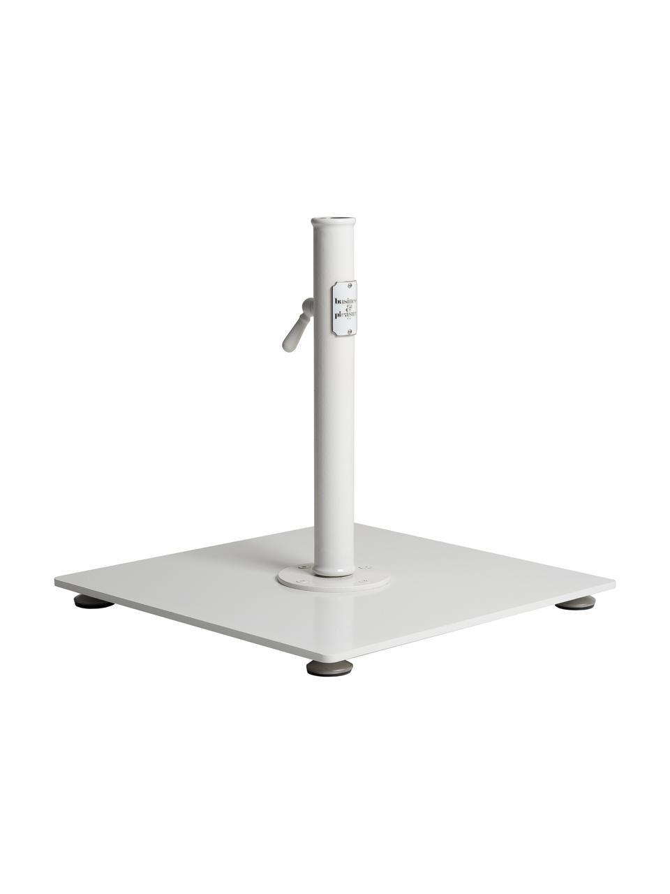 Quadratischer Sonnenschirmständer Classic in Weiß, Gebrochenes Weiß, 46 x 40 cm