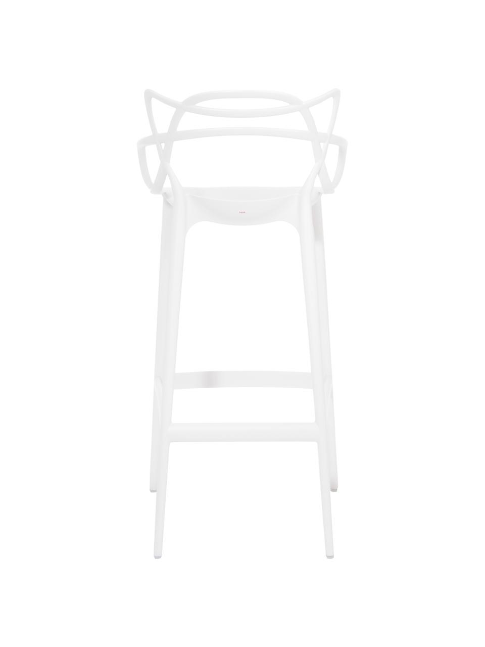 Krzesło barowe Masters, Polipropylen, Biały, S 49 x W 109 cm