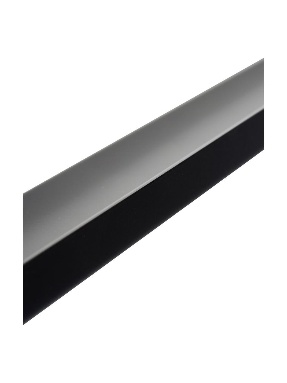Schmale Bilderleiste Shelfini in Schwarz, Leiste: Metall, lackiert, Schwarz, Messing, 50 x 6 cm