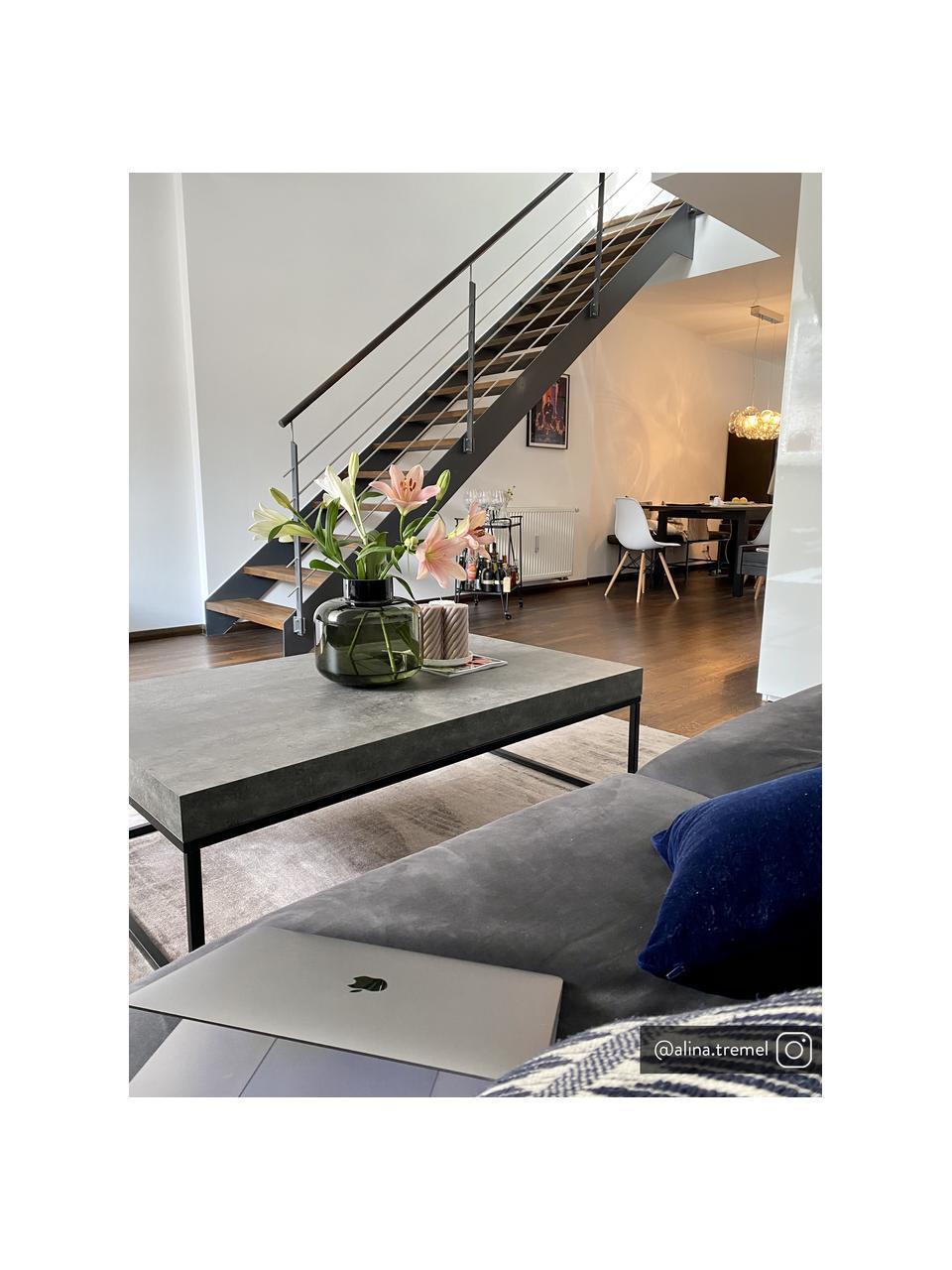 Stolik kawowy z imitacją betonu Ellis, Blat: lekka struktura plastra m, Stelaż: metal lakierowany, Imitacja betonu, S 120 x G 75 cm