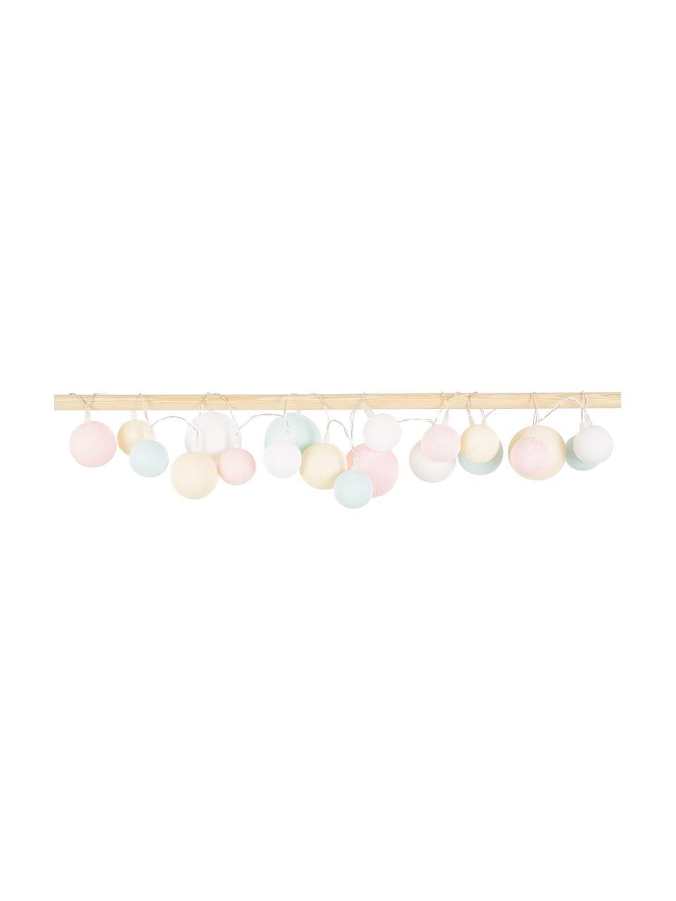 Girlanda świetlna LED Moodi, Blady różowy, niebieski, żółty, biały, D 230 x W 10 cm