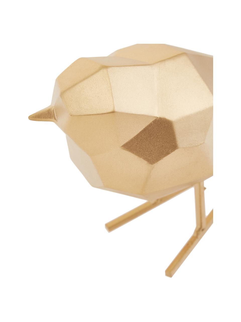 Dekoracja Bird, Poliresing, Odcienie złotego, S 17 x W 14 cm