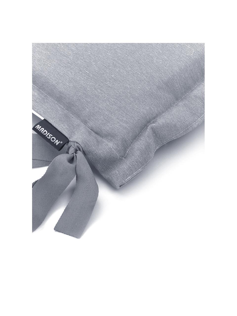 Einfarbige Bankauflage Panama in Hellgrau, 50% Baumwolle, 45% Polyester, 5% andere Fasern, Hellgrau, 48 x 120 cm