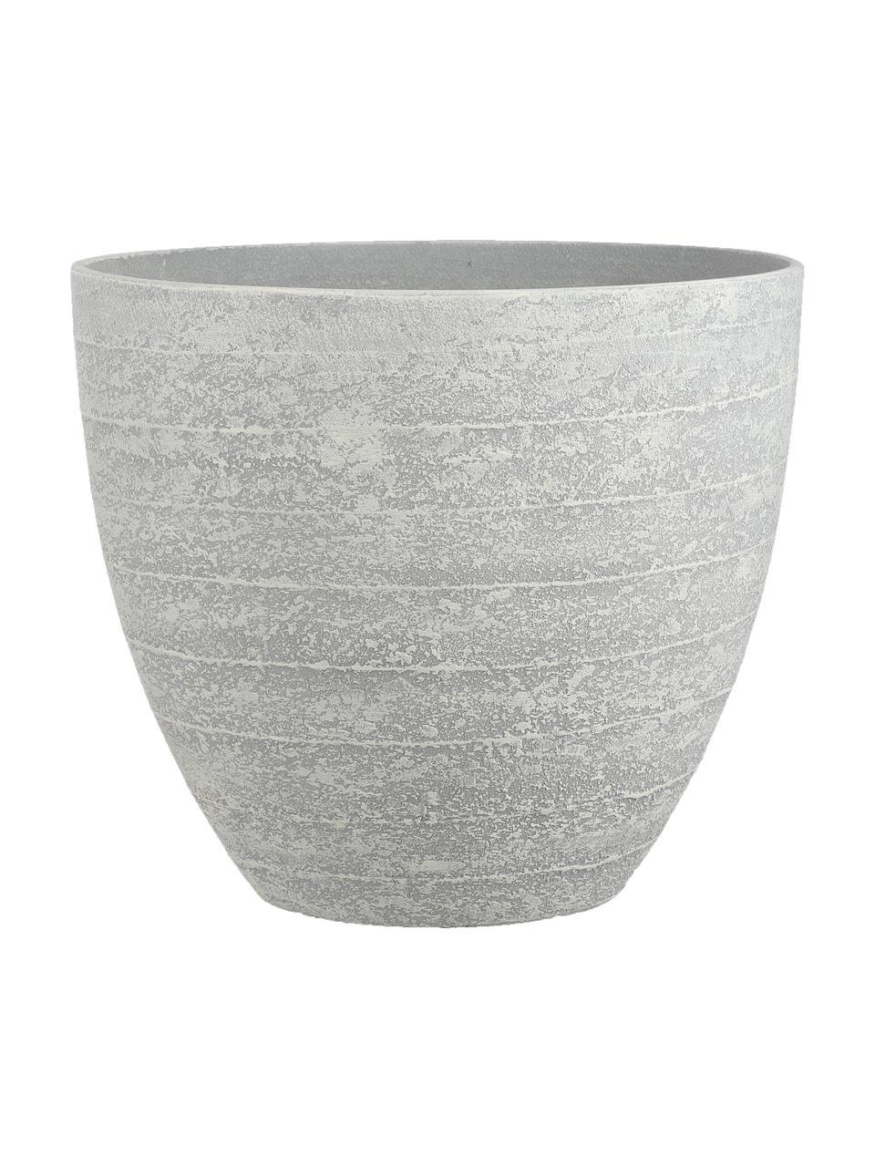 Duża osłonka na doniczkę Bravo, Tworzywo sztuczne, Szary, Ø 37 x W 33 cm