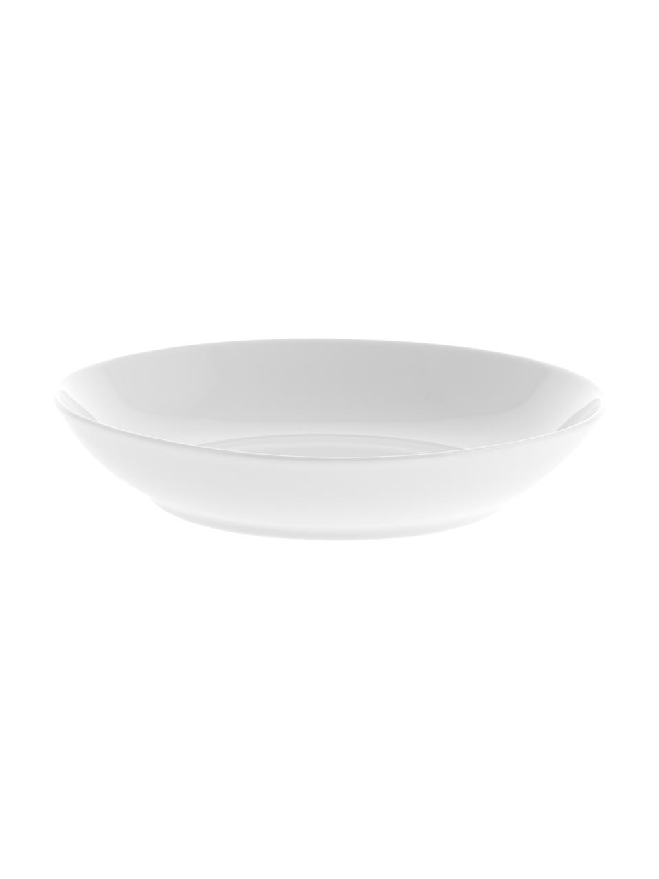Set van 2 porseleinen soepborden Delight Modern in wit, Porselein, Wit, Ø 21 x H 4 cm