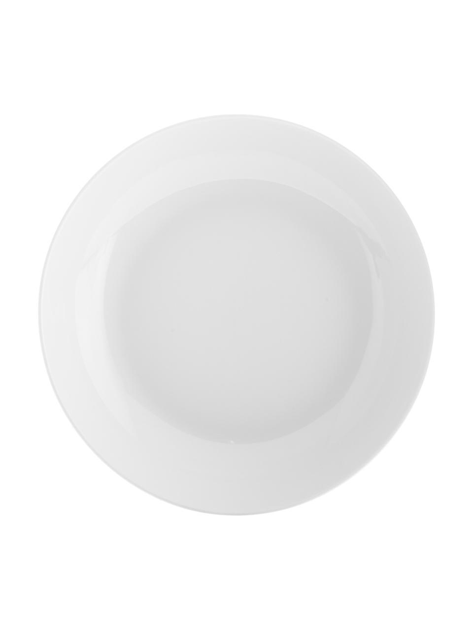 Piatto fondo in porcellana Delight Modern 2 pz, Porcellana, Bianco, Ø 21 x Alt. 4 cm