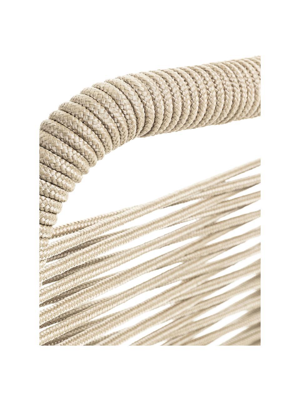 Stoelen Lambton, 2 stuks, Zitvlak: polyethyleen vlechtwerk, Frame: gepoedercoat metaal, Zwart, lichtbruin, B 49 x D 59 cm