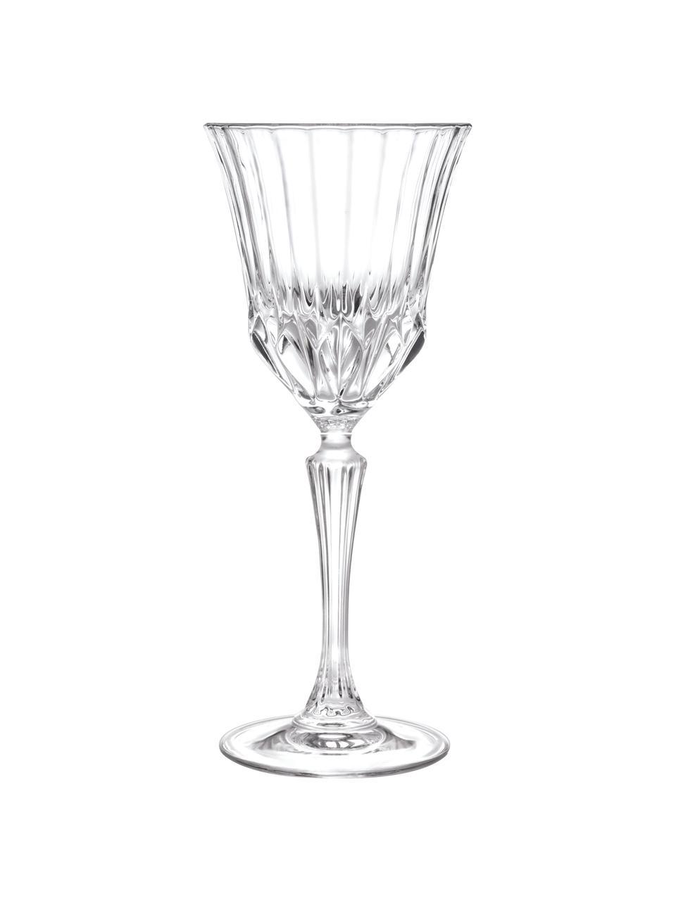 Kristall-Weingläser Adagio mit Relief, 6 Stück, Kristallglas, Transparent, Ø 9 x H 21 cm