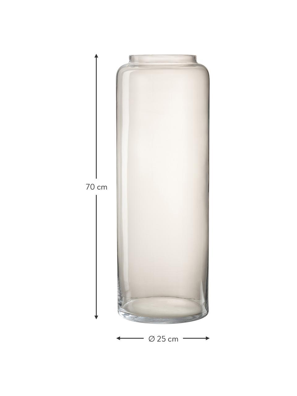 Wazon podłogowy ze szkła Right, Szklanka, Transparentny, Ø 25 x W 70 cm