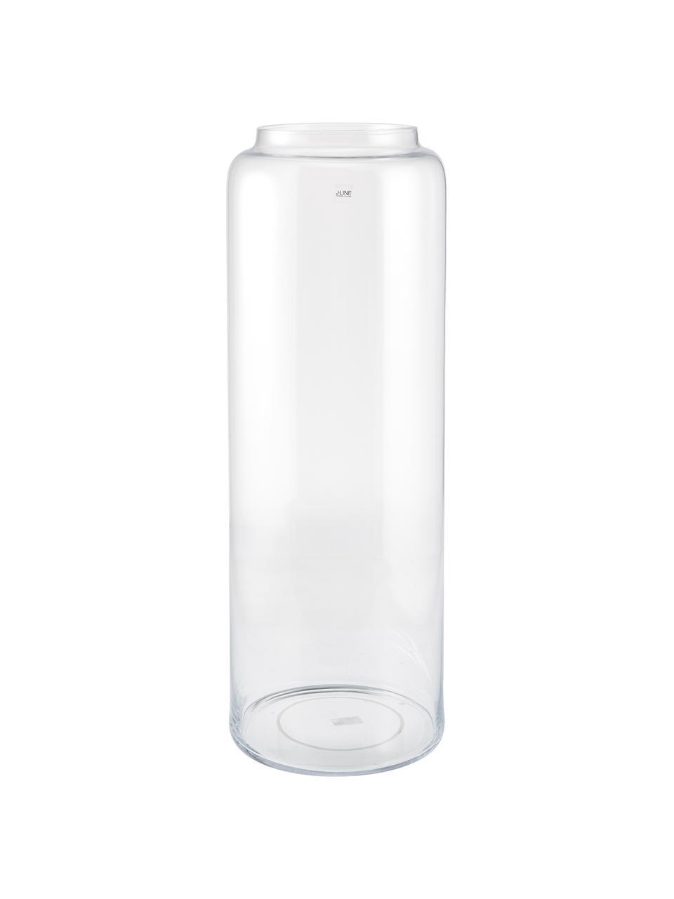 Bodenvase Right aus Glas, Glas, Transparent, Ø 25 x H 70 cm
