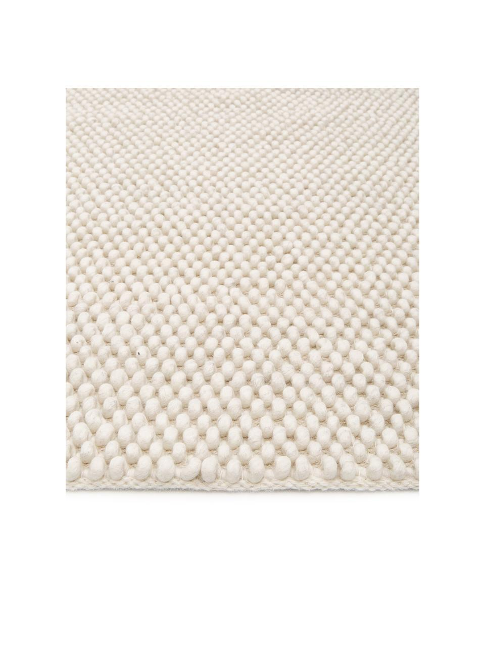 Ręcznie szyty dywan z wełny My Loft, Odcienie kości słoniowej, S 160 x D 230 cm (Rozmiar M)