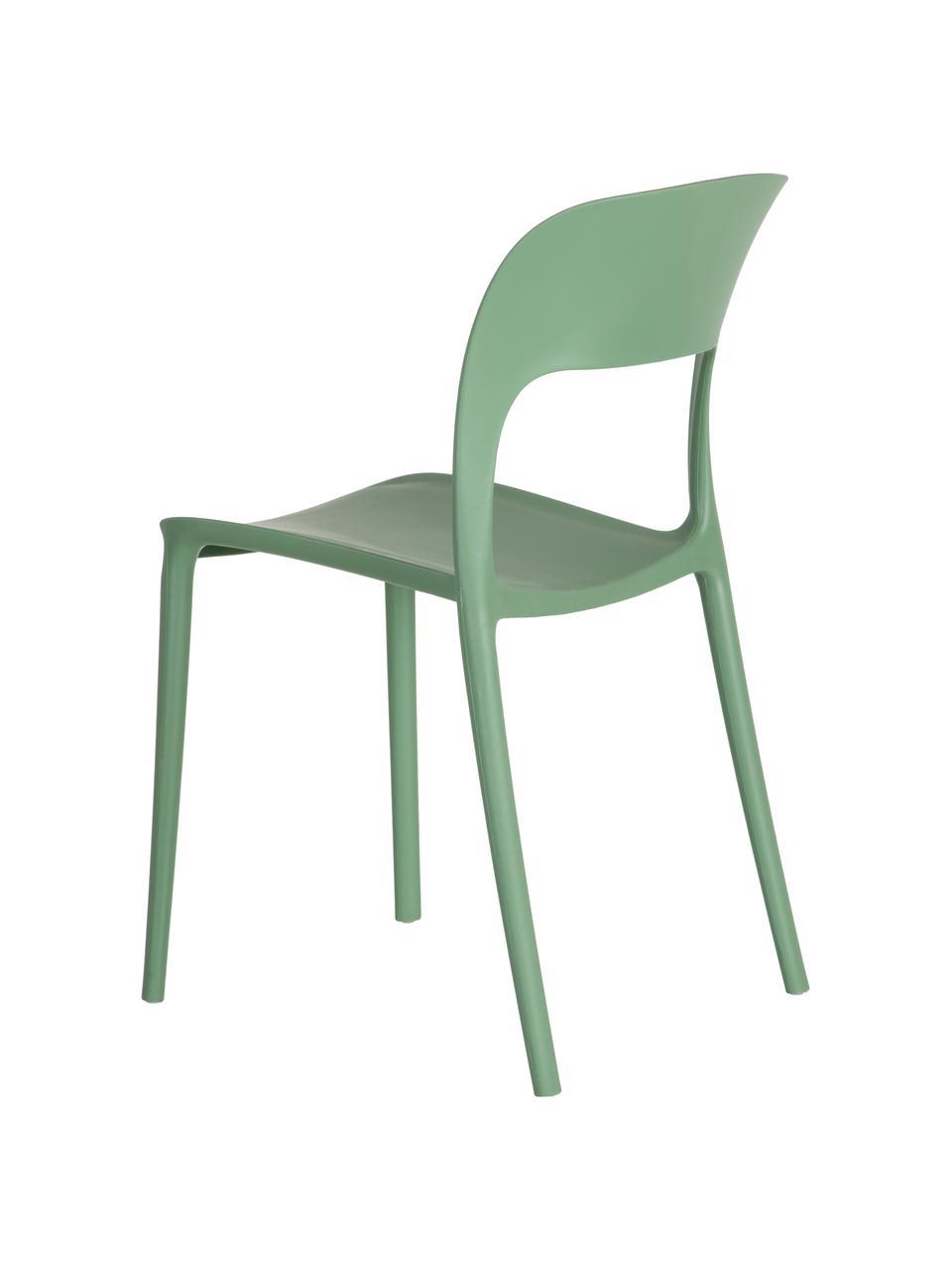 Krzesło z tworzywa sztucznego Valeria, Tworzywo sztuczne (PP), Miętowy, S 43 x G 43 cm