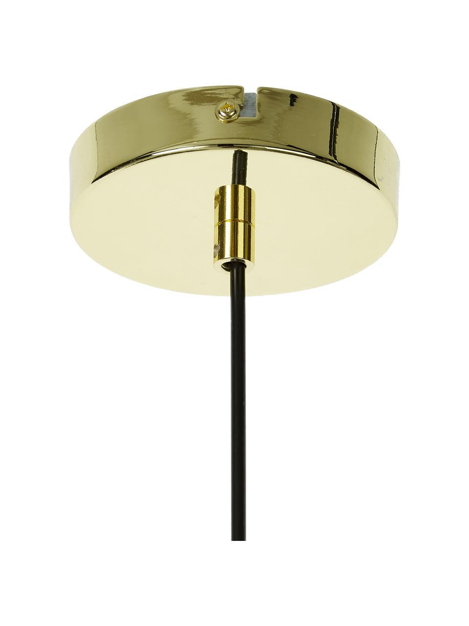 Mała lampa wisząca ze szkła Irina, Złoty, Ø 24 x W 22 cm