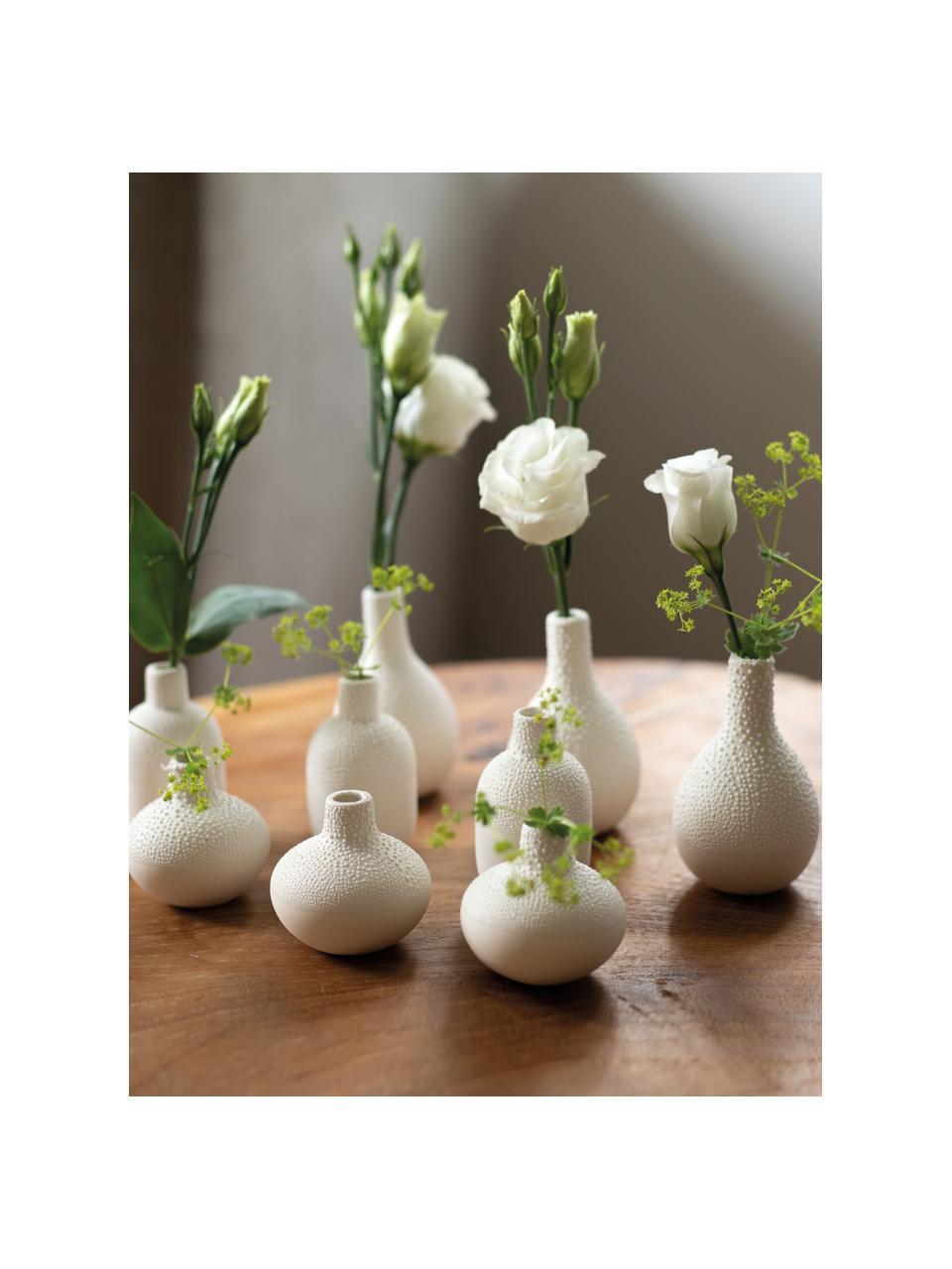 Set 3 vasi in gres Perla, Gres con smalto perlato, Bianco, Set in varie misure