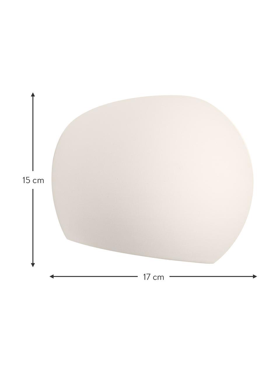 Kinkiet z ceramiki Mercury, Biały, S 20 x W 18 cm