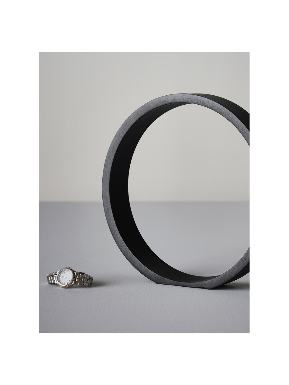 Deko-Objekt Ring, Metall, beschichtet, Schwarz, 25 x 25 cm