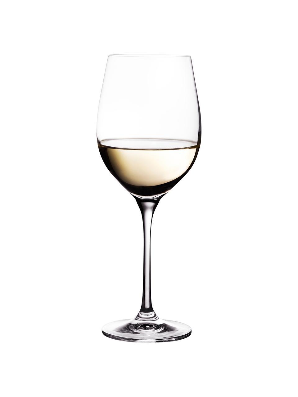 Witte wijnglazen Harmony gemaakt van kristalglas, 6 stuks, Edele glans - het kristalglas breekt het licht en dit creëert een sprankelend effect, waardoor elk wijnglas als  een bijzonder moment kan worden ervaren., Transparant, Ø 9 x H 22 cm