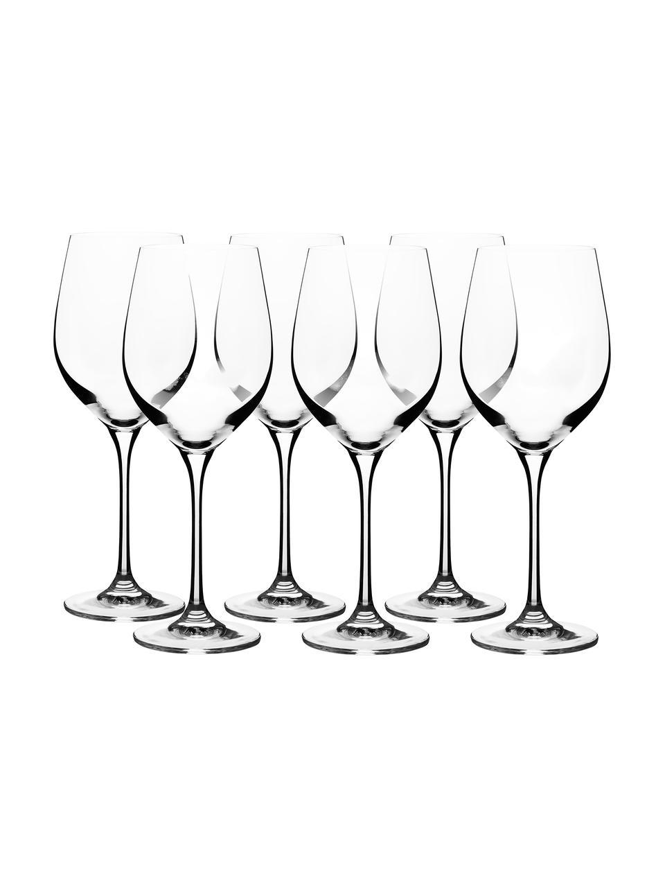 Kryształowy kieliszek do białego wina Harmony, 6 szt., Szkło kryształowe o najwyższym połysku, szczególnie widocznym poprzez odbijanie światła Magiczny blask sprawia, że każdy łyk wina jest wyjątkowym doznaniem, Transparentny, Ø 9 x W 22 cm