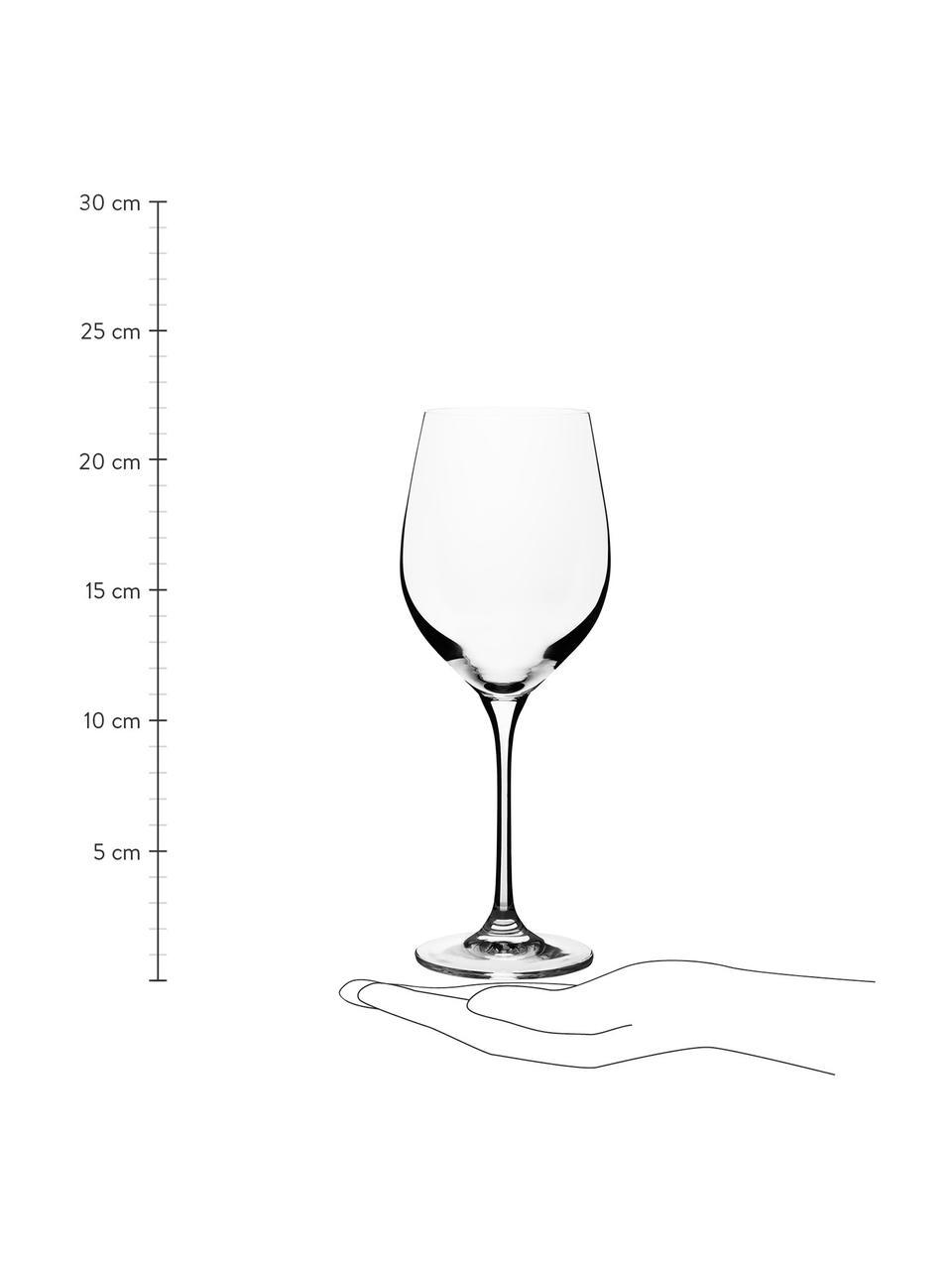 Weißweingläser Harmony aus glattem Kristallglas, 6 Stück, Edelster Glanz – das Kristallglas bricht einfallendes Licht besonders stark. So entsteht ein märchenhaftes Funkeln, das jede Weinverkostung zu einem ganz besonderen Erlebnis macht., Transparent, Ø 9 x H 22 cm