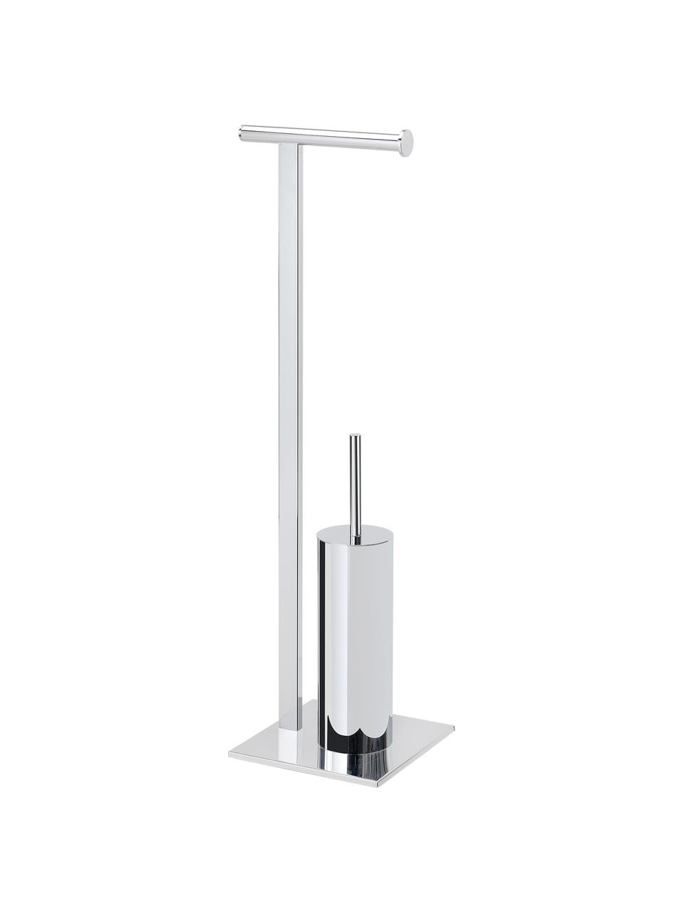 Toilettenpapierhalter Blendon mit Toilettenbürste, Metall, Metall, 20 x 72 cm