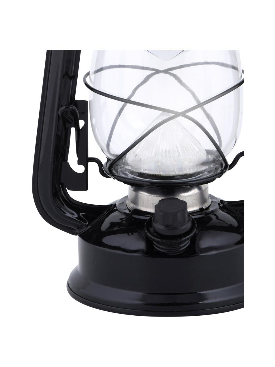 Lanterna portatile da esterno Tallin, Struttura: metallo rivestito, Nero, Larg. 15 x Alt. 24 cm
