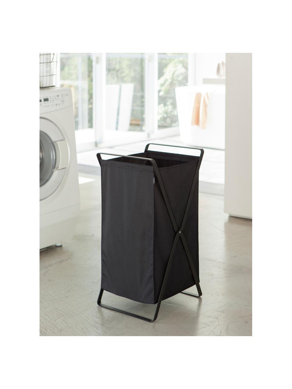 Kosz na pranie Tower, Czarny, S 36 x W 64 cm