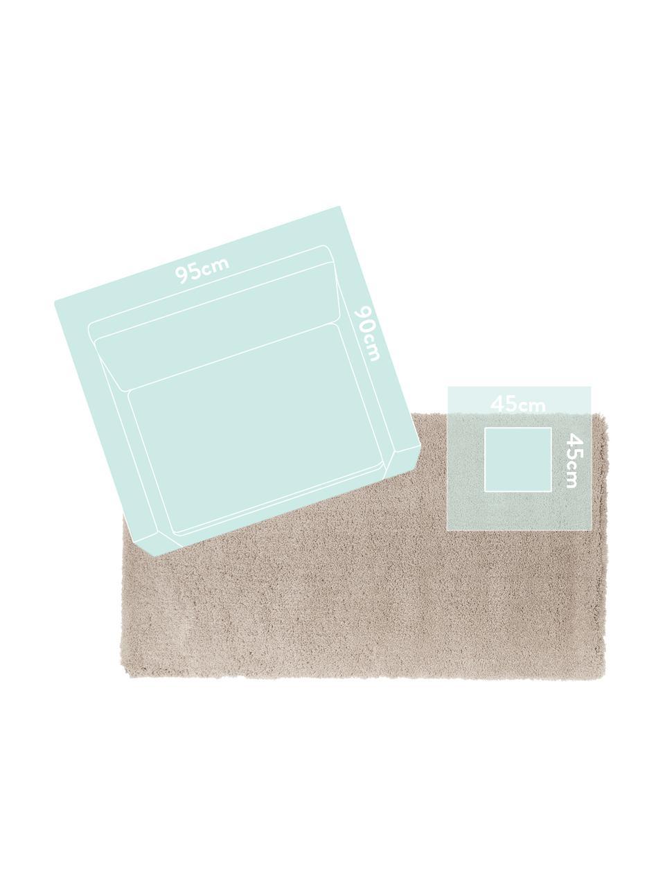 Tappeto peloso morbido beige Leighton, Retro: 70% poliestere, 30% coton, Beige-marrone, Larg. 200 x Lung. 300 cm (taglia L)