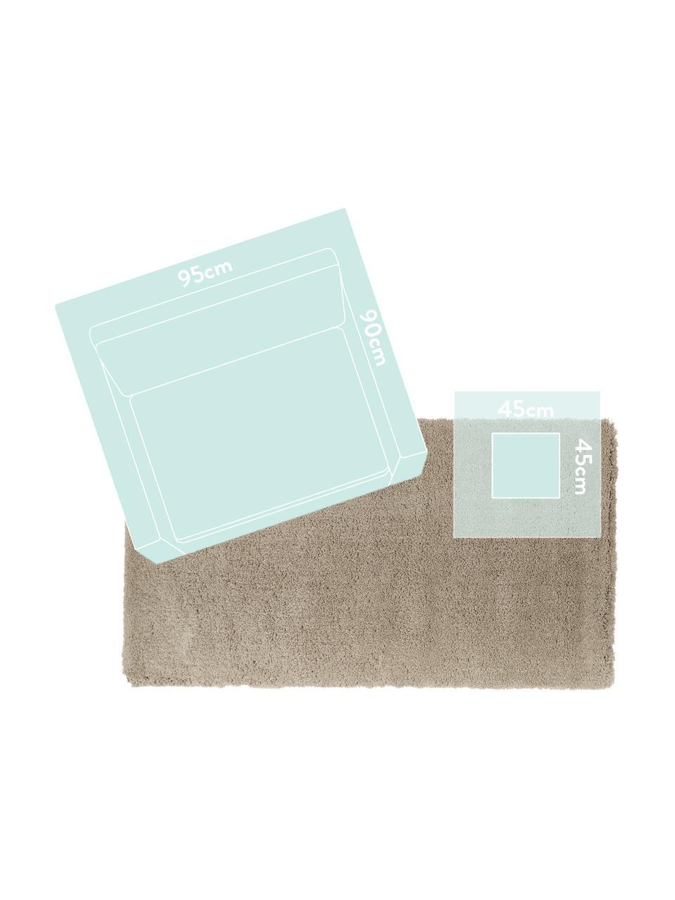 Zacht hoogpolig vloerkleed Leighton in beige, Bovenzijde: microvezels (100% polyest, Onderzijde: 70% polyester, 30% katoen, Beige, B 200 x L 300 cm (maat L)