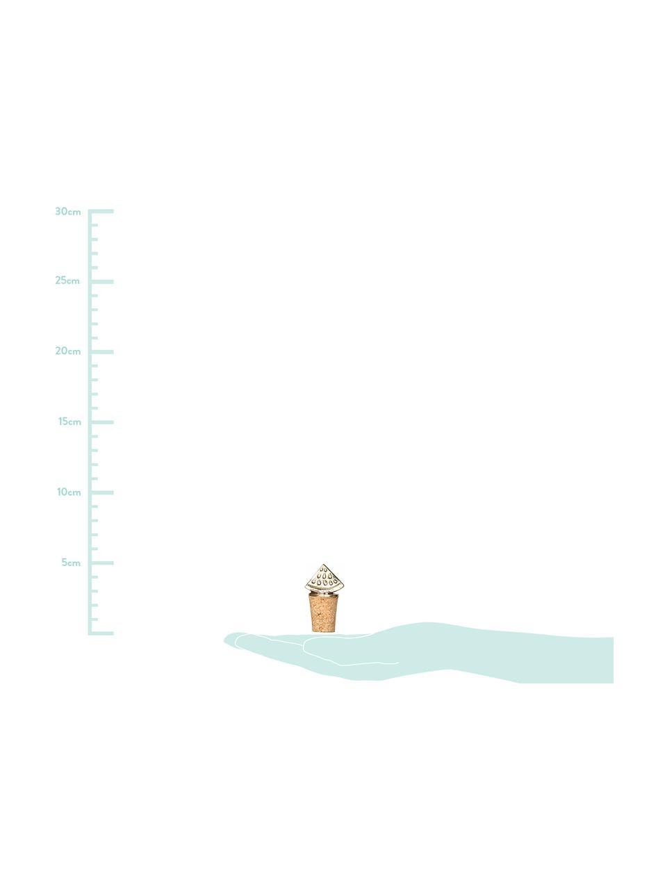 Korek do butelek Watermelon, Mosiądz, korek, Mosiądz, S 3 x W 5 cm