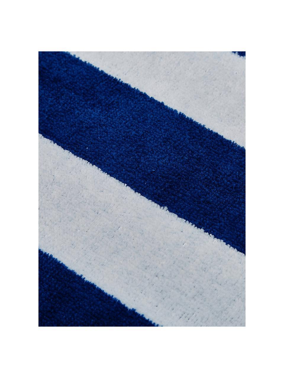 Gestreiftes Strandtuch Mare, 100% Baumwolle leichte Qualität 380 g/m², Blau, Weiß, 80 x 160 cm