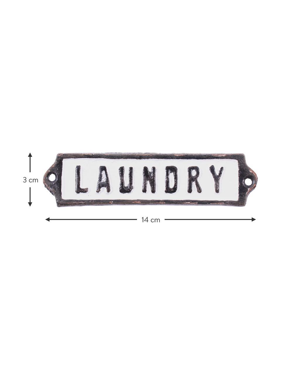 Dekorativní tabule Laundry, Černá, bílá